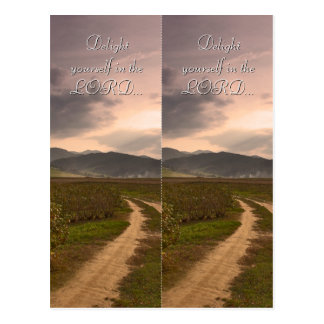 Delight yourself in the LORD | Bookmark Postcard