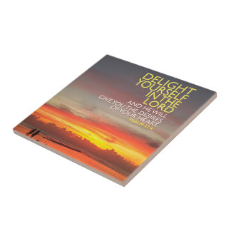 Delight Yourself in the Lord Photo Tile