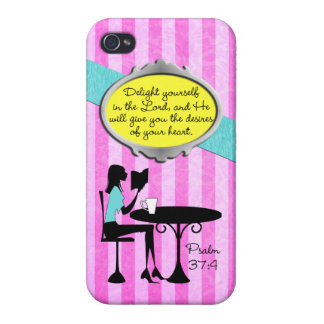 Delight Yourself in the Lord Psalm 37:4 Christian iPhone 4 Cases