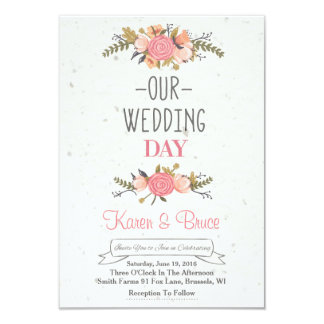 Delightful Blooming Rose Wedding Invitation