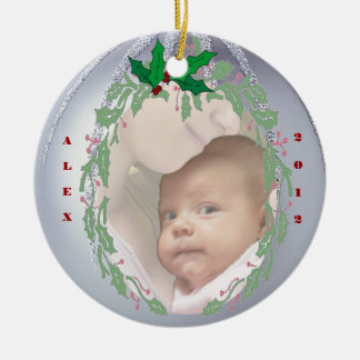 Delightful Customize it -  Babys 1st  Christmas Christmas Ornament