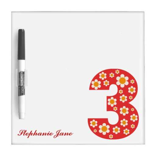 Delightful Daisies Number 3 Dry-Erase Board