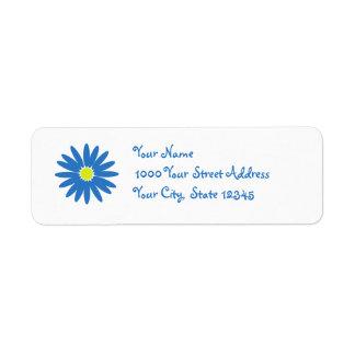 Delightful Daisy Blue Return Address Label
