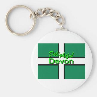Delightful Devon Basic Round Button Key Ring