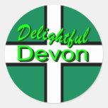 Delightful Devon Classic Round Sticker