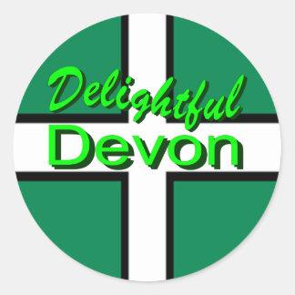 Delightful Devon Round Sticker