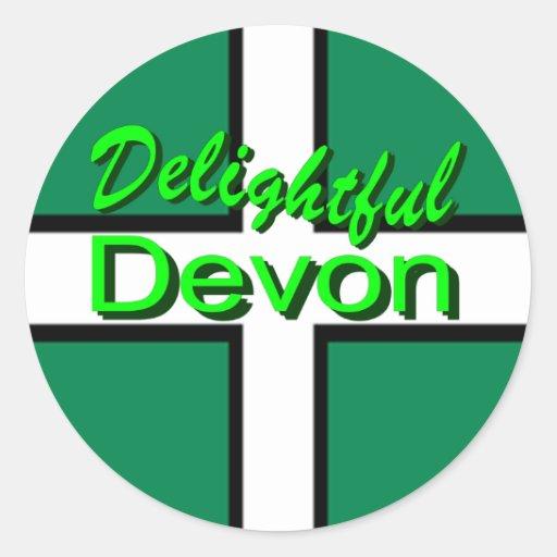 Delightful Devon Sticker