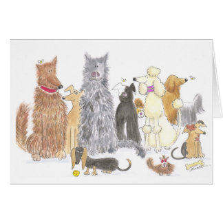 Delightful dogs note card