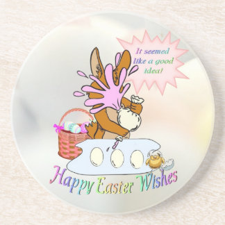 Delightful Happy Easter Wishes Coaster
