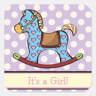 Delightful Hearts Rocking Horse Sticker