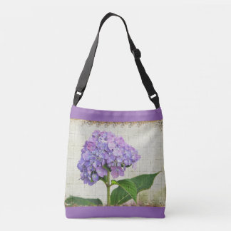 Delightful Lavender Hydranga Crossbody Bag