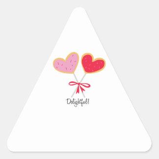 Delightful Lollipops Triangle Sticker
