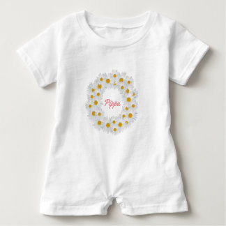 Delightful Personalised Daisy Ring Baby Bodysuit