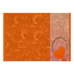 Delightful reddish texture special gift poster