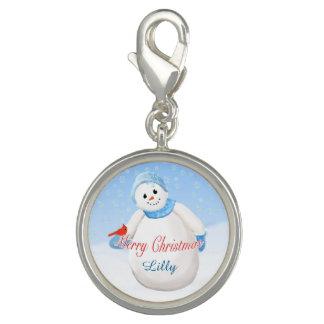 Delightful Snowman and Cardinal Bird Christmas