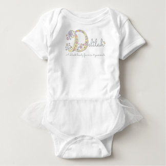 Baby name meanings gifts t shirts art posters other gift delilah baby girls name meaning monogram hearts baby bodysuit negle Gallery