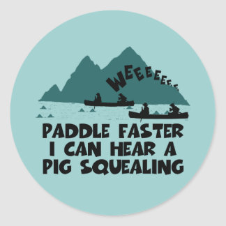 Deliverance,squeal little piggy parody classic round sticker