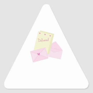 Delivered Stationary Triangle Sticker