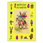 Delivering Easter eggs by Elephant Card