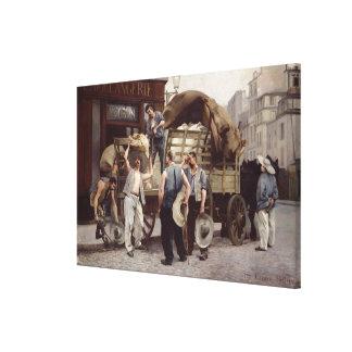 Delivering Flour, 1885 Canvas Print
