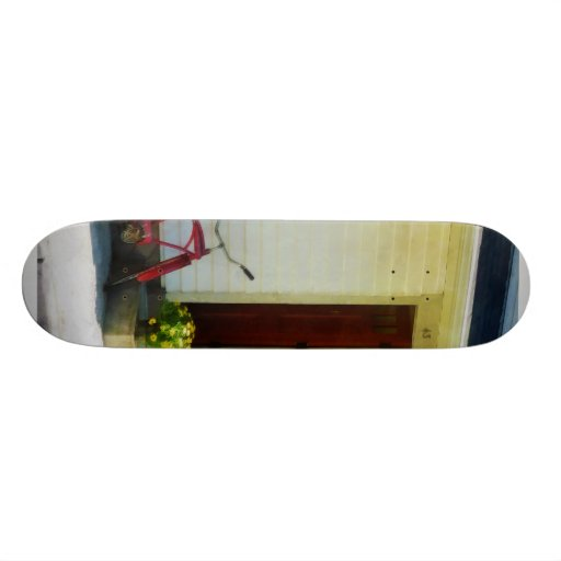 Delivery Bicycle by Two Red Doors Skate Deck