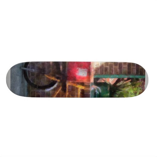 Delivery Bicycle Greenwich Village Skateboard