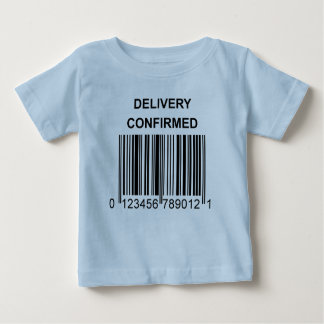 Delivery Confirmed Baby Shirt Blue