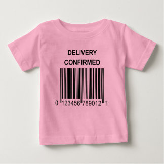 Delivery Confirmed Baby Shirt Pink