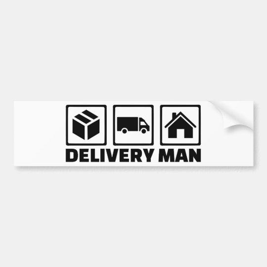Delivery man bumper sticker