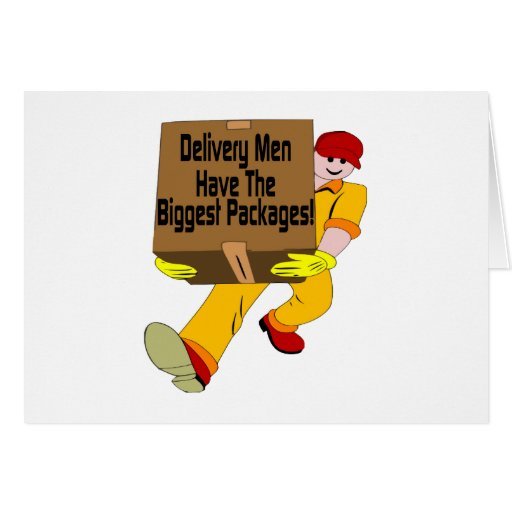 Delivery Men Greeting Cards