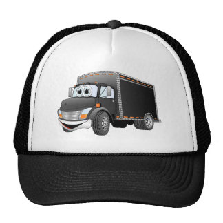 Delivery Truck Black Cartoon Hat