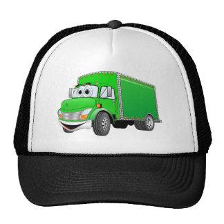 Delivery Truck Green Cartoon Trucker Hats
