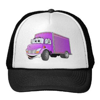 Delivery Truck Purple Cartoon Trucker Hat