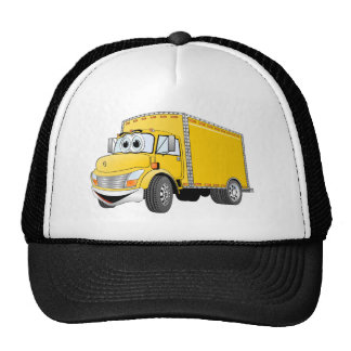 Delivery Truck Yellow Cartoon Cap