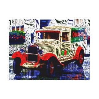 Delivery van - digital Work - Jean - Louis Glineur Canvas Print