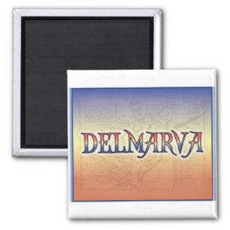 DelMarVa Antique Map Refrigerator Magnet