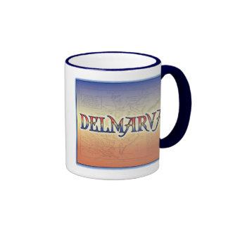 DelMarVa Antique Map Ringer Mug