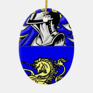 DelMonte Coat of Arms Ornament