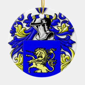 DelMonte Coat of Arms Christmas Ornament