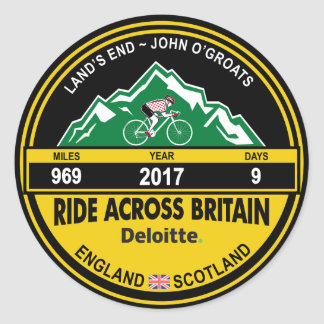 Deloitte RIDE ACROSS BRITAIN 2017 Sticker