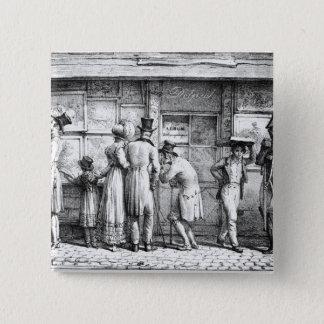 Delpech's Lithographic Print Shop, c.1818 15 Cm Square Badge