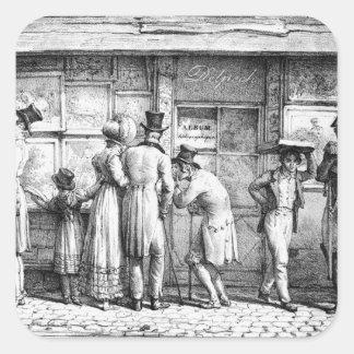 Delpech's Lithographic Print Shop, c.1818 Square Stickers