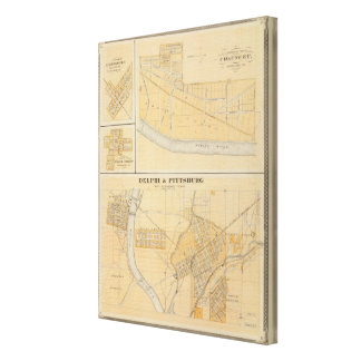 Delphi & Pittsburg with suburban towns Gallery Wrap Canvas