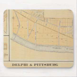 Delphi & Pittsburg with suburban towns Mouse Mat