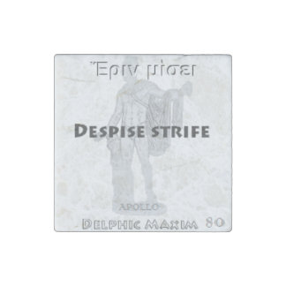 Delphic Maxim #80 - Despise Strife Stone Magnet