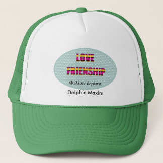 Delphic Maxim LOVE FRIENDSHIP Trucker Hat