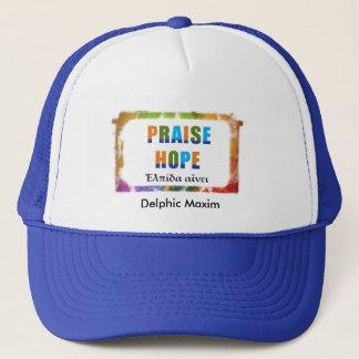 Delphic Maxim PRAISE HOPE Trucker Hat