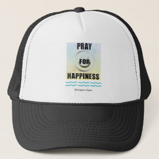 Delphic Maxim PRAY FOR HAPPINESS Trucker Hat