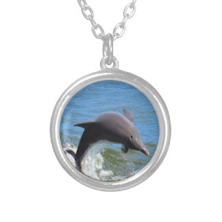 Delphine Playing Silver Plated Necklace
