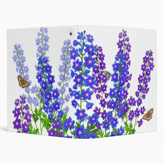 Delphinium Larkspur Flowers Avery Binder